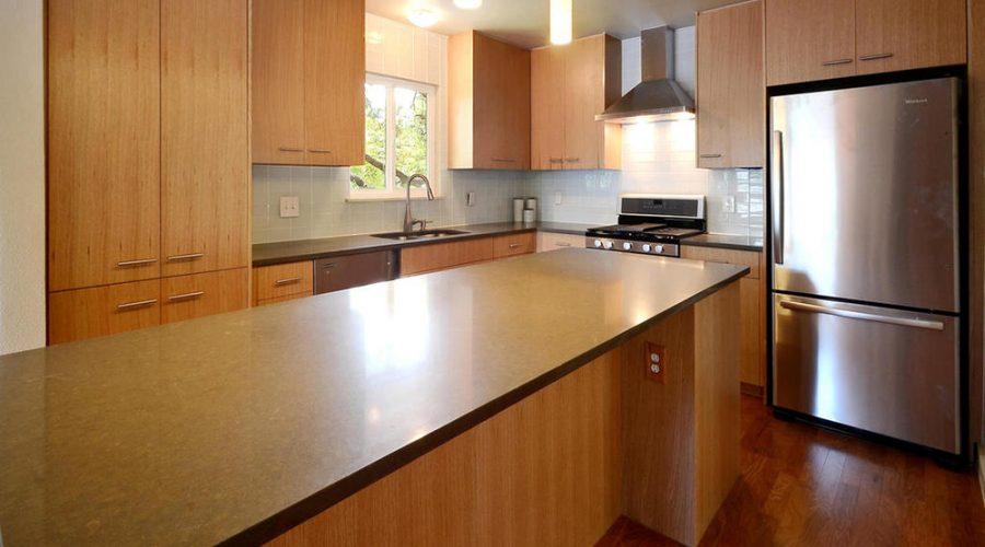 A remodeled modern kitchen