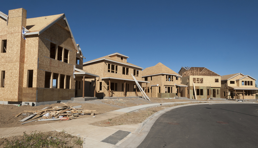 Several large homes under construction