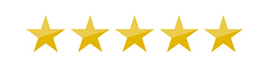 Graphic of 5 gold stars