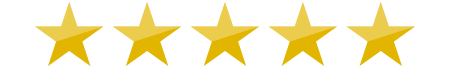 Image of 5 gold stars for Habitat Hunters five star reviews