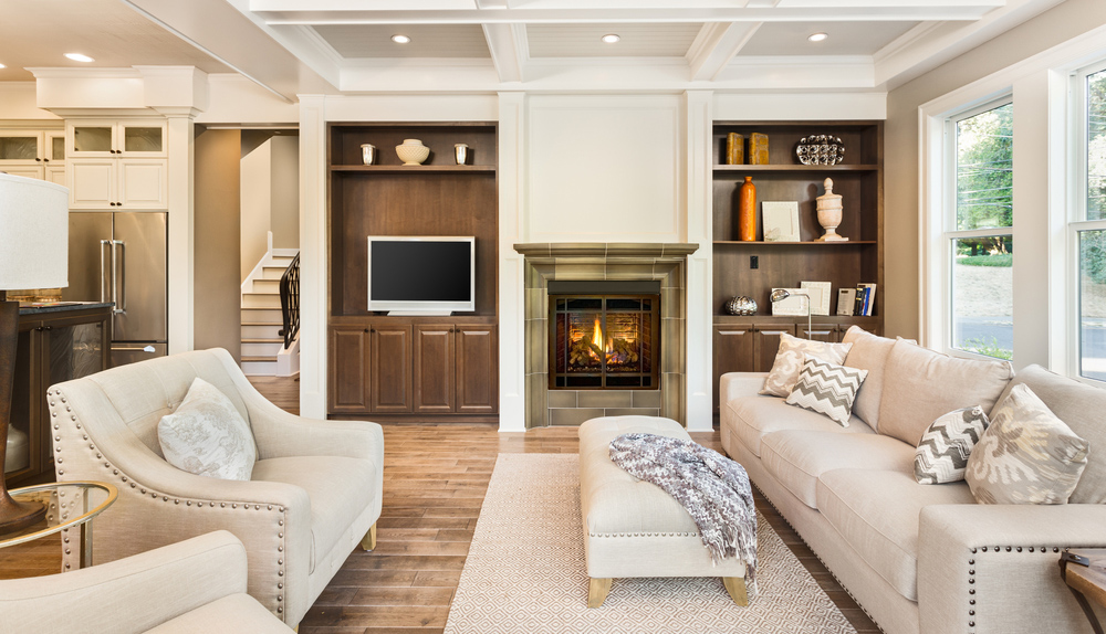 Interior of a living room in a modern home