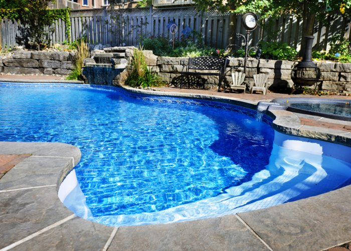 Image of a home swimming pool