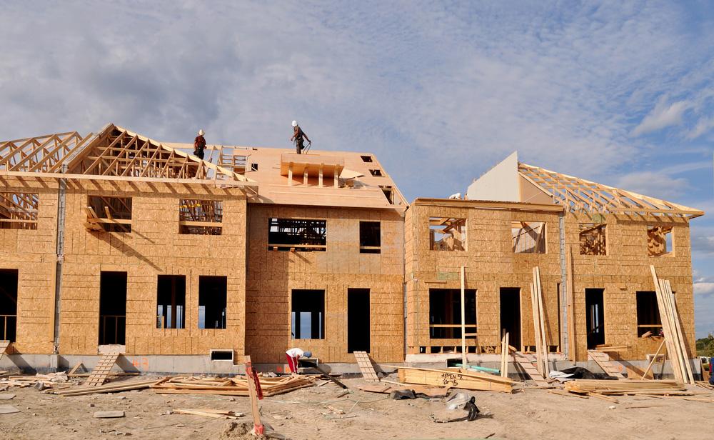 A housing development under construction